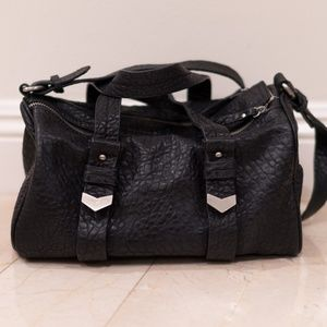 Zara Pebble Leather Duffle Bag